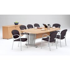 Modular Conference Table with Credenza and Optional Chairs