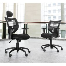 Poly Mesh Back Contemporary Executive Chair with Arms