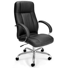 <strong>OFM</strong> High-Back Leatherette Executive Conference Chair with Arms