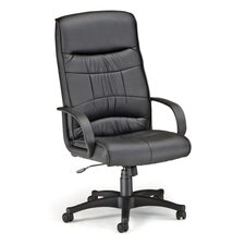 High-Back Leatherette Executive Chair with Arms