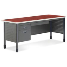 Executive Series Secretarial Desk with Optional Return