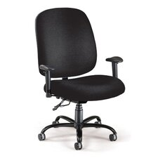 Mid-Back Big and Tall Office Chair with Arms
