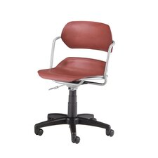Plastic Armless Swivel Office Chair with Swivel