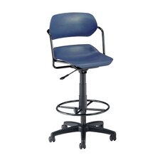 <strong>OFM</strong> Height Adjustable Plastic Swivel Stool