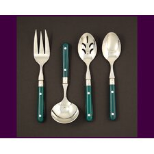 <strong>Ginkgo</strong> Stainless Steel LePrix 4 Piece Hostess Set in Green