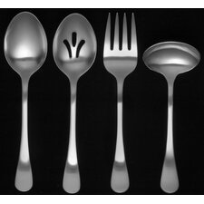 <strong>Ginkgo</strong> Stainless Steel Bergen 4 Piece Hostess Set