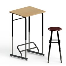 <strong>Stand2Learn</strong> Stand-Biased Height Adjustable Classroom Desk (Kindergarten - 4th Grade)