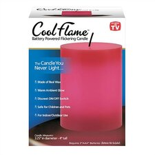 Cool Flame Pillar Candle