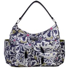 Lotus Floral Poly Satin Tote