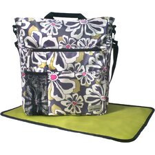 Lexington Floral Poly Satin Tote