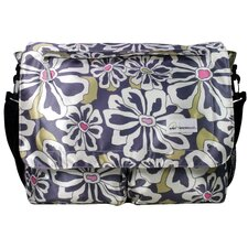 Seattlel Floral Poly Satin Messenger Bag