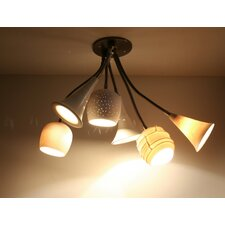 Claylight Bouquet Semi Flush Mount