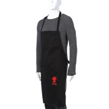 Barbecue Apron in Black with Red Kettle