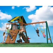 <strong>Backyard Play Systems</strong> Wood Turtle Cove Swing Set