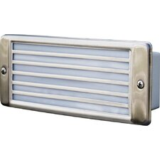 Recessed Louvered 2 Light Brick Step / Wall Sconce