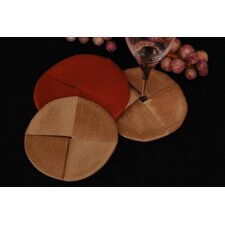 <strong>Pacific Table Linens</strong> Luscious Silk Wine Glass Coaster (Set of 2)