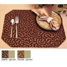 <strong>Pacific Table Linens</strong> Illusions Reversible Rectangle Placemat (Set of 2)