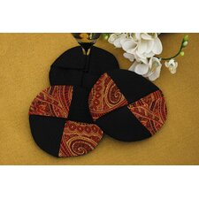 Prema Silk Paisley Wine Glass Coasters (Set of 2)