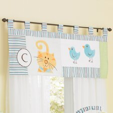 ABC Animal Friends Window Curtain Valance