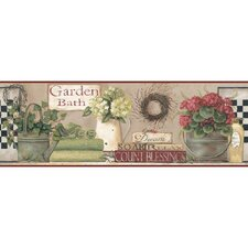 <strong>York Wallcoverings</strong> Welcome Home Garden Bath Border Wallpaper