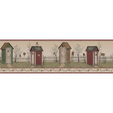 <strong>York Wallcoverings</strong> Welcome Home Country Outhouse Border Wallpaper