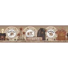 Brewster Home Fashions New Country Signs Border Wallpaper | Wayfair