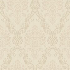 <strong>York Wallcoverings</strong> Riverside Park Fabric Damask Wallpaper