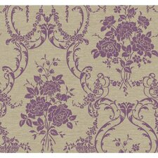 Saint Augustine Neoclassical Rose Damask Wallpaper