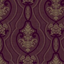 <strong>York Wallcoverings</strong> Heritage Home Raised Ogee Damask Wallpaper