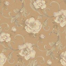 Heritage Home Classic Promenade Floral Botanical Wallpaper