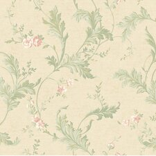 <strong>York Wallcoverings</strong> Heritage Home Delicate Acanthus Floral Botanical Wallpaper