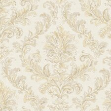 <strong>York Wallcoverings</strong> Hyde Park Painterly Damask Wallpaper