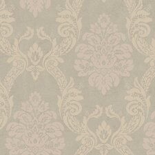 <strong>York Wallcoverings</strong> Heritage Home Ogee Damask Wallpaper