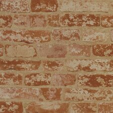 <strong>York Wallcoverings</strong> Welcome Home Stuccoed Brick Wallpaper