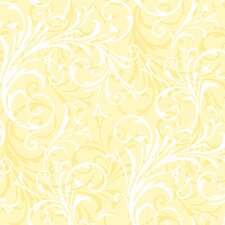 <strong>York Wallcoverings</strong> Peek-A-Boo Layered Scroll Wallpaper