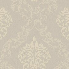 Royal Cottage Leafy Damask Ogee Damask Wallpaper
