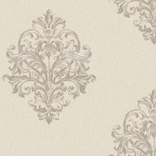 <strong>York Wallcoverings</strong> Royal Cottage Sketch Damask Wallpaper