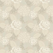Candice Olson II Dimensional Surfaces Toss Floral Botanical Wallpaper