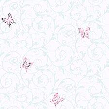 Butterfly Scroll Wallpaper
