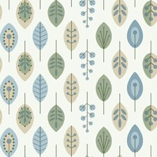 Bistro 750 Retro Leaves Prepasted Wallpaper