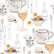 Bistro 750 Graphic Tableware Food Beverage Wallpaper