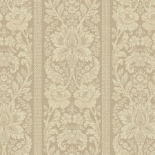 French Dressing Floral Damask Stripe Wallpaper