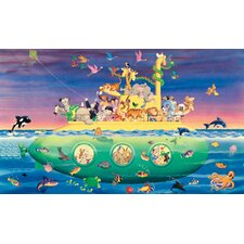 <strong>York Wallcoverings</strong> York Kids IV Noah's Sub Chair Rail Wall Mural