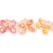 York Kids IV Flower Power Glitter Border