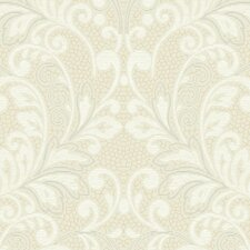 <strong>York Wallcoverings</strong> French Dressing Lace Rococo Scroll Wallpaper