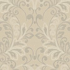 French Dressing Lace Rococo Scroll Wallpaper