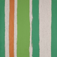 Barbara Becker Watercolor And Jute Texture Stripe Wallpaper