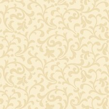 Candice Olson Dimensional Surfaces Sand Printed Scrolling Leaf Wallpaper