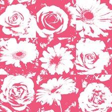 Risky Business Petal Pusher Floral Botanical Wallpaper