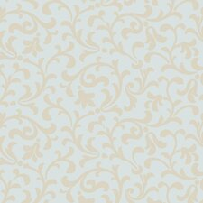 Candice Olson II Dimensional Surfaces Printed Leaf Scroll Wallpaper